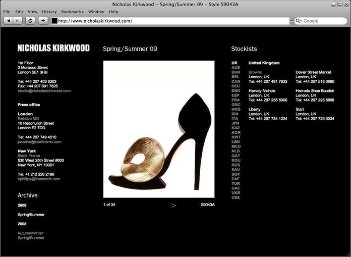 Nicholas Kirkwood Website