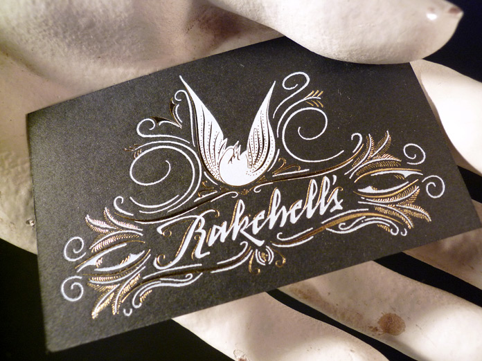Rakehell's Business Card Front