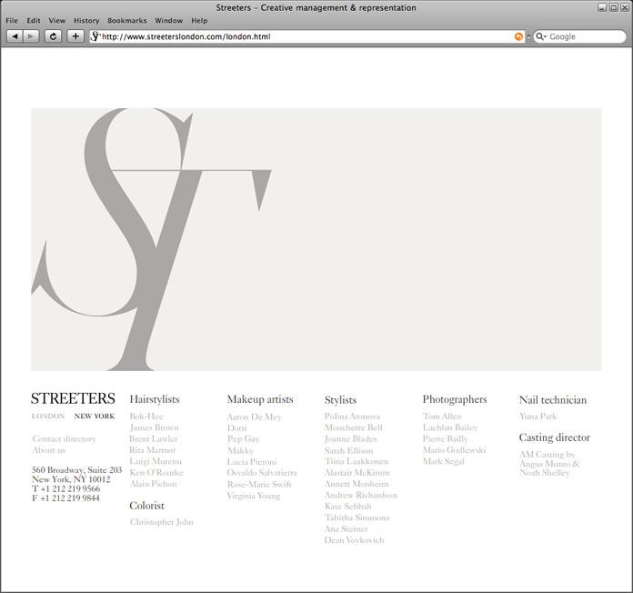 Streeters Homepage