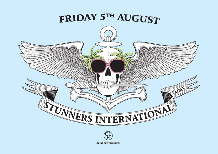 Stunners International Beach Party Flyer Front